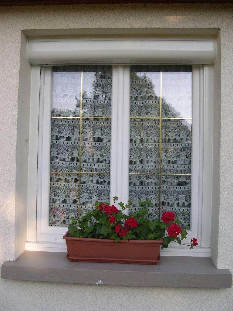 Fenêtre Pvc Avec Petits Bois Laiton Intégrés Volets Roulants